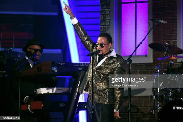 Recording artist Morris Day performs a tribute to Prince onstage during The 59th GRAMMY Awards at STAPLES Center on February 12 2017 in Los Angeles...