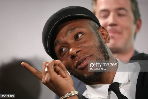 Recording artist Mos Def helps Google announce new search capabilities to facilitate online music distribution during an event at the Capitol Records...