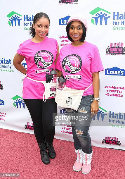 Recording Artist Mya and actress Angell Conwell attend the 9th annual Power Women Power Tools Event at Sony Pictures Studios on June 15 2013 in...
