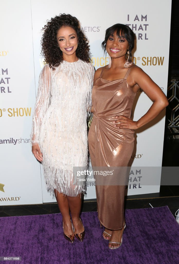 Recording artist Mya (L) and actress Angell Conwell attend the Women's Choice Award Show at Avalon Hollywood on May 17, 2017 in Los Angeles, California.