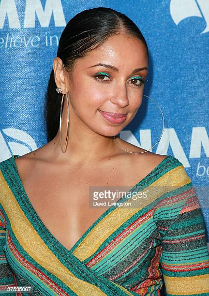 Recording artist Mya attends the 110th NAMM Show Day 3 at the Anaheim Convention Center on January 21 2012 in Anaheim California