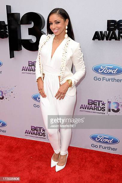 Recording artist Mya attends the Ford Red Carpet at the 2013 BET Awards at Nokia Theatre LA Live on June 30 2013 in Los Angeles California