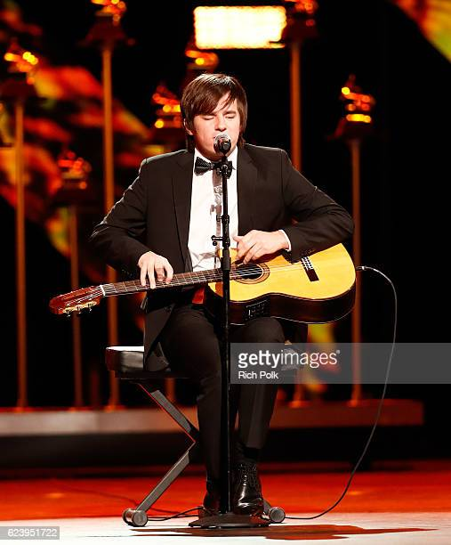 Recording artist Nahuel Pennisi performs onstage during The 17th Annual Latin Grammy Awards Premiere Ceremony at MGM Grand Garden Arena on November...