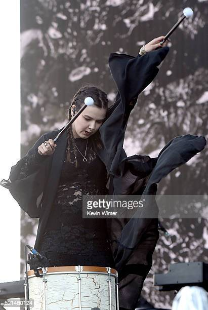 Recording artist Nanna Bryndís Hilmarsdóttir of Of Monsters and Men performs onstage during day 1 of the 2016 Coachella Valley Music Arts Festival...