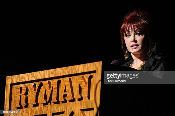 Recording Artist Naomi Judd addresses the audience during the 'Music Saves Mountains' benefit concert at the Ryman Auditorium on May 19 2010 in...