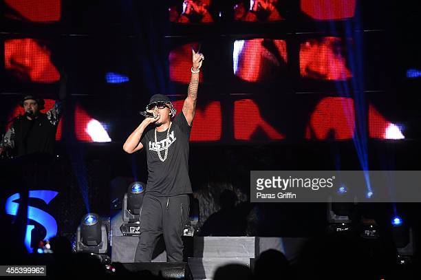 Recording artist Nas performs onstage during 2014 ONE Musicfest at Aaron's Amphitheater at Lakewood on September 13 2014 in Atlanta Georgia