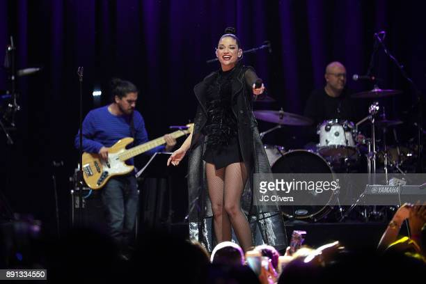 Recording artist Natalia Jimenez performs onstage at the House of Blues on December 12 2017 in Anaheim California