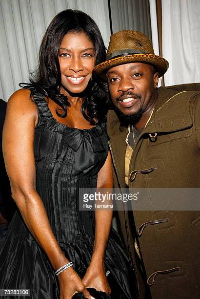 Recording artist Natalie Cole and Anthony Hamilton attend BMI's PreGrammy Party at the Mondrian Hotel February 09 2007 in in Los Angeles California