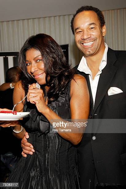 Recording artist Natalie Cole and guest attend BMI's PreGrammy Party at the Mondrian Hotel February 09 2007 in Los Angeles California