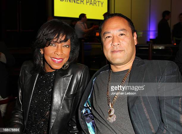 Recording artist Natalie Cole and producer Dan the Automator attend the NARM 2013 meet and greet during the 2013 Music Biz Awards at the Hyatt...