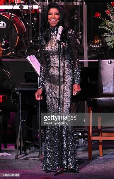 Recording artist Natalie Cole performs on stage at The Greek Theatre on July 28 2012 in Los Angeles California