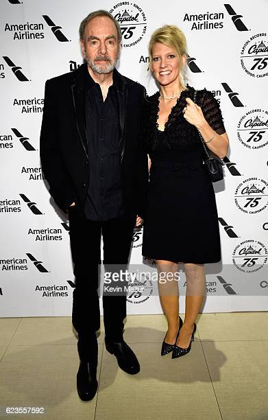 Recording artist Neil Diamond and Katie McNeil attend Hollywood Gala celebrating Capitol Records 75th Anniversary on November 15 2016 in Los Angeles...