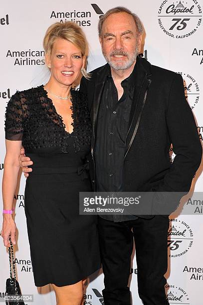 Recording artist Neil Diamond and wife Katie McNeil attend Capitol Records 75th Anniversary Gala at Capitol Records Tower on November 15 2016 in Los...