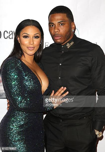 Recording artist Nelly and actress Shantel Jackson attend The 7th Annual Face Forward Gala at Vibiana on September 24 2016 in Los Angeles California