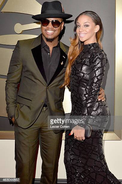 Recording Artist NeYo and Crystal Renay attend The 57th Annual GRAMMY Awards at the STAPLES Center on February 8 2015 in Los Angeles California