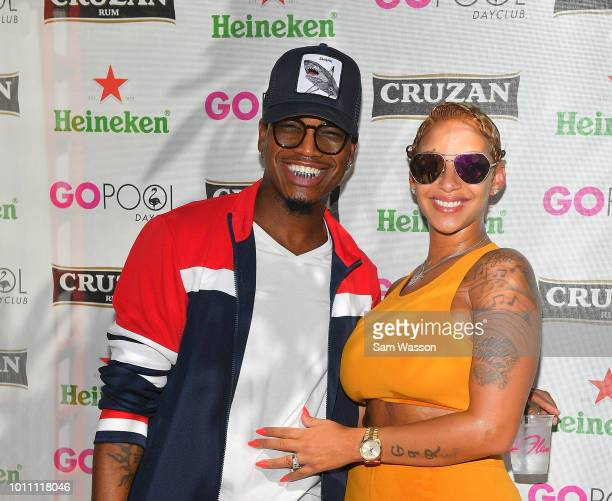Recording artist NeYo and his wife Crystal Renay Williams arrive at the Flamingo Go Pool Dayclub at Flamingo Las Vegas on August 4 2018 in Las Vegas...
