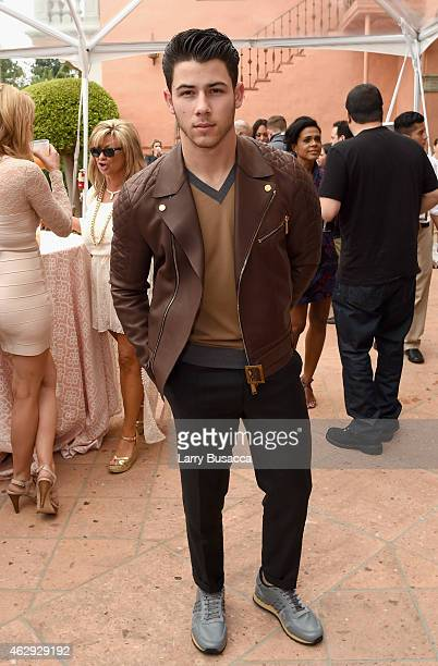 Recording artist Nick Jonas attends Roc Nation and Three Six Zero PreGRAMMY Brunch 2015 at Private Residence on February 7 2015 in Beverly Hills...