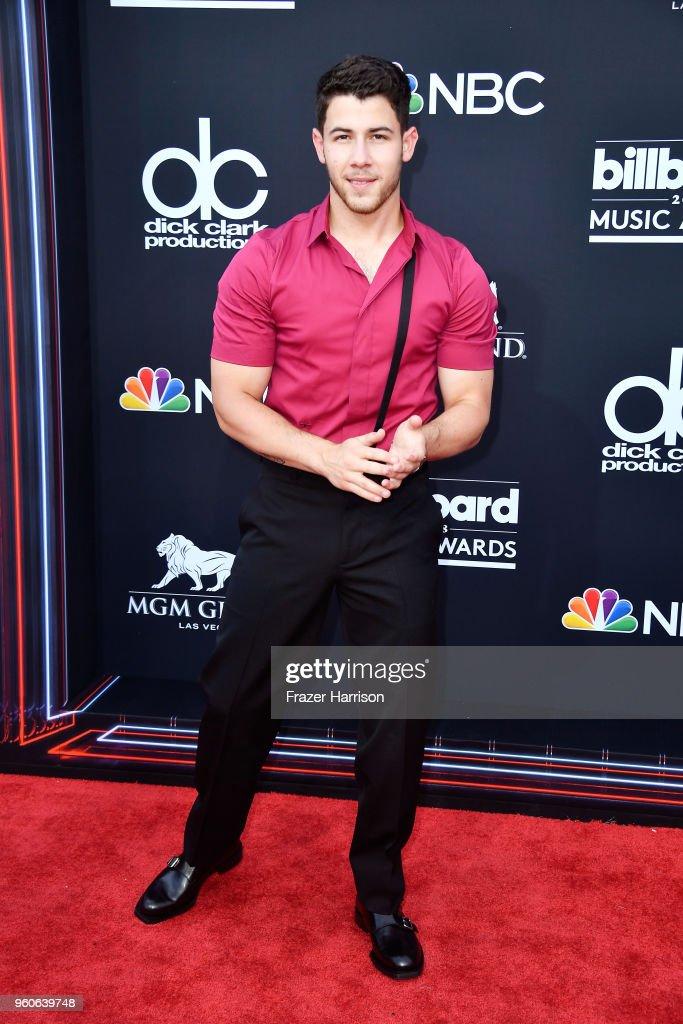 Recording artist Nick Jonas attends the 2018 Billboard Music Awards at MGM Grand Garden Arena on May 20, 2018 in Las Vegas, Nevada.