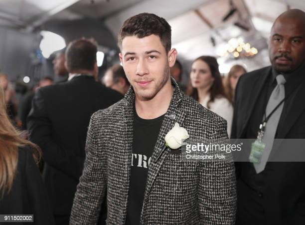Recording artist Nick Jonas attends the 60th Annual GRAMMY Awards at Madison Square Garden on January 28 2018 in New York City