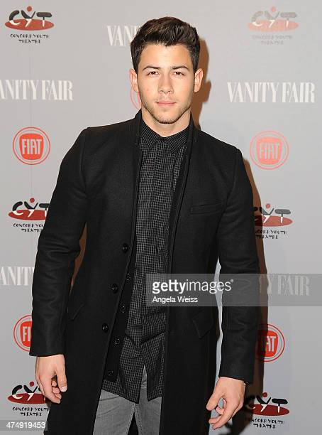 Recording artist Nick Jonas attends the Vanity Fair Campaign Hollywood 'Young Hollywood' party sponsored by Fiat at No Vacancy on February 25 2014 in...