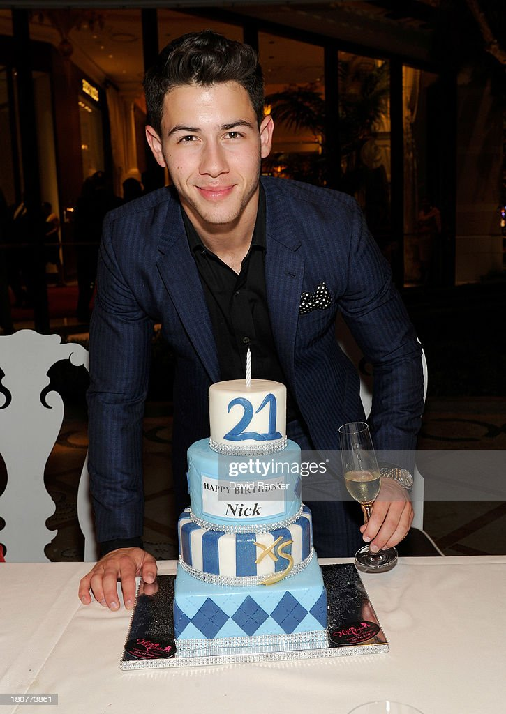 Recording artist Nick Jonas celebrates his 21st birthday at Botero at Encore Las Vegas on September 16, 2013 in Las Vegas, Nevada.