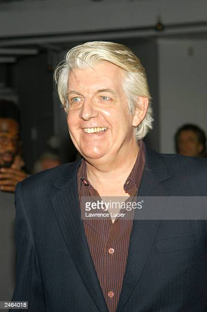 Recording artist Nick Lowe arrives at the debut party for GQ's new editor-in-chief Jim Nelson at Hudson Studios September 4, 2003 in New York City.