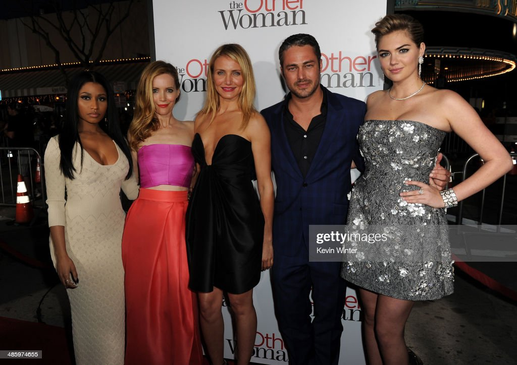 Recording artist Nicki Minaj, actors Leslie Mann, Cameron Diaz, Taylor Kinney and Kate Upton attend the premiere of Twentieth Century Fox's 'The Other Woman' at Regency Village Theatre on April 21, 2014 in Westwood, California.
