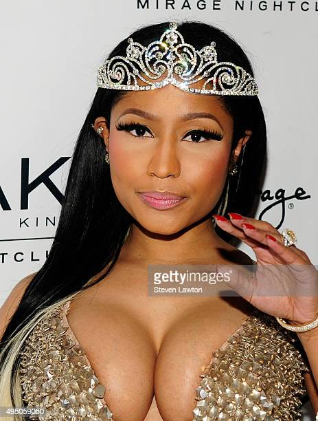 Recording artist Nicki Minaj attends a Haunted Funhouse Halloween party at 1 OAK Nightclub at The Mirage Hotel Casino on October 31 2015 in Las Vegas...