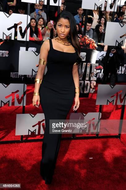 Recording artist Nicki Minaj attends the 2014 MTV Movie Awards at Nokia Theatre LA Live on April 13 2014 in Los Angeles California