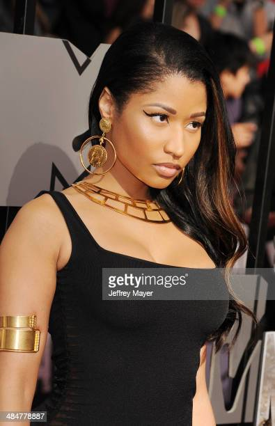 Recording artist Nicki Minaj attends the 2014 MTV Movie Awards at Nokia Theatre LA Live on April 13 2014 in Los Angeles California