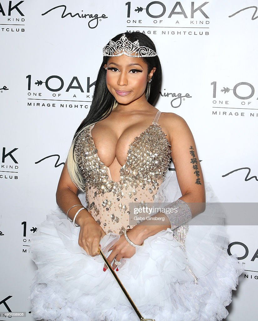 Recording artist Nicki Minaj, dressed as a a fairy princess, attends a Haunted Funhouse Halloween party at 1 OAK Nightclub at The Mirage Hotel & Casino on October 31, 2015 in Las Vegas, Nevada.