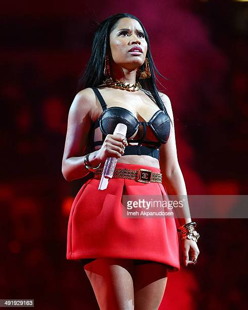 Recording artist Nicki Minaj performs onstage at Power 106 FM's Powerhouse at Honda Center on May 17 2014 in Anaheim California
