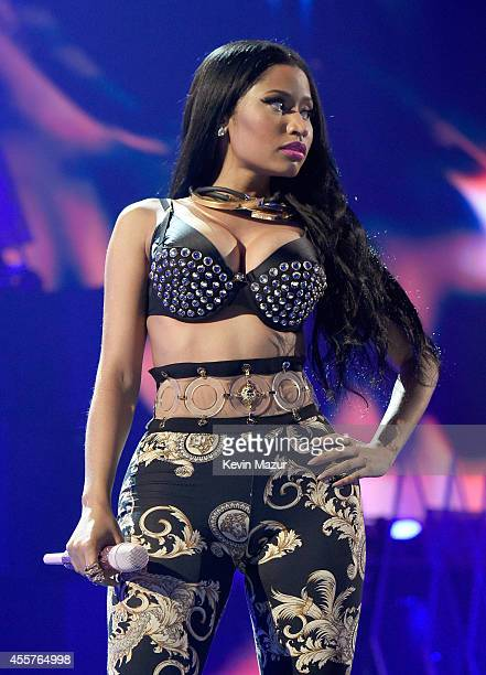 Recording artist Nicki Minaj performs onstage during the 2014 iHeartRadio Music Festival at the MGM Grand Garden Arena on September 19 2014 in Las...