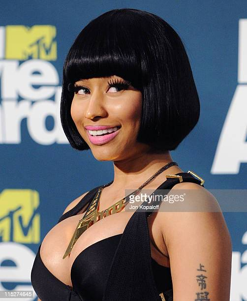 Recording Artist Nicki Minaj poses in the press room at the 2011 MTV Movie Awards at Gibson Amphitheatre on June 5, 2011 in Universal City,...