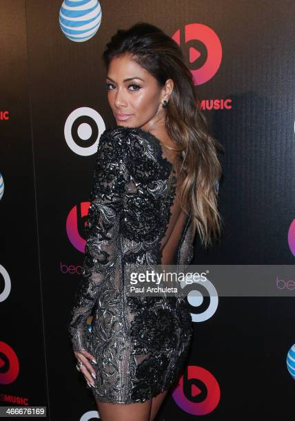 Recording Artist Nicole Scherzinger attends the official launch party for Beats Music from Beats By Dr Dre at Belasco Theatre on January 24 2014 in...