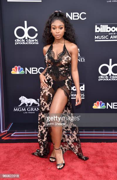 Recording artist Normani attends the 2018 Billboard Music Awards at MGM Grand Garden Arena on May 20 2018 in Las Vegas Nevada