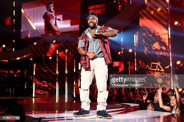 Recording artist Omarion performs onstage during the 2015 BET Awards at the Microsoft Theater on June 28 2015 in Los Angeles California