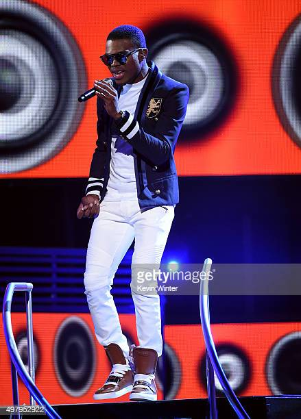 Recording artist OMI performs onstage during the 16th Latin GRAMMY Awards at the MGM Grand Garden Arena on November 19 2015 in Las Vegas Nevada