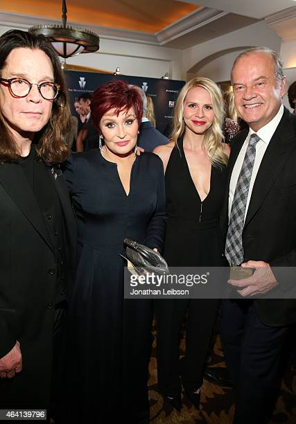 Recording artist Ozzy Osbourne TV personality Sharon Osbourne Kayte Walsh and actor Kelsey Grammer attend The Weinstein Company's Academy Awards...