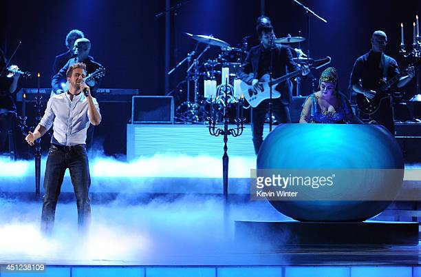 Recording artist Pablo Alboran performs onstage during The 14th Annual Latin GRAMMY Awards at the Mandalay Bay Events Center on November 21 2013 in...