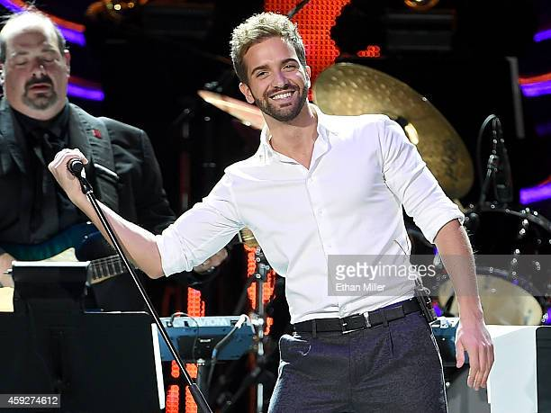 Recording artist Pablo Alboran performs onstage during the 2014 Person of the Year honoring Joan Manuel Serrat at the Mandalay Bay Events Center on...