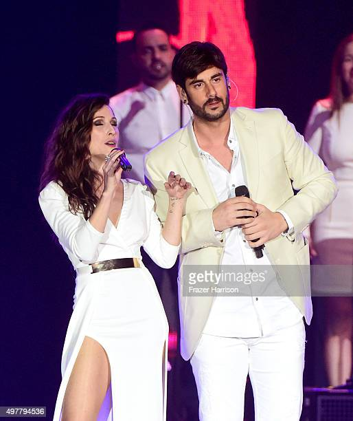 Recording artist Pablo Hurtado of Camila and Paula Fernandes perform onstage during the 2015 Latin GRAMMY Person of the Year honoring Roberto Carlos...