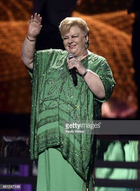 Recording artist Paquita la del Barrio performs onstage during The 14th Annual Latin GRAMMY Awards at the Mandalay Bay Events Center on November 21...