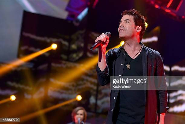 Recording artist Pat Monahan of the music group Train performs onstage during the 2014 iHeartRadio Music Festival at the MGM Grand Garden Arena on...