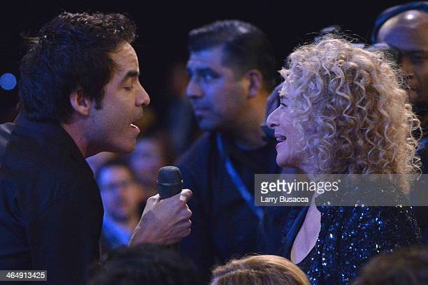 Recording artist Pat Monahan of Train and honoree Carole King perform at 2014 MusiCares Person Of The Year Honoring Carole King at Los Angeles...