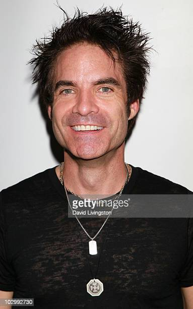 Recording artist Patrick Monahan of 'Train' attends 'An Evening With Train' presented by American Express at The GRAMMY Museum on July 19 2010 in Los...