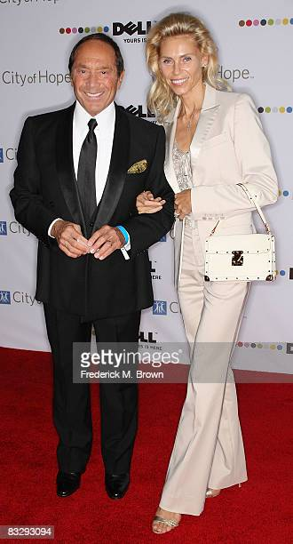 Recording artist Paul Anka and his wife Anna attend the 2008 Spirit of Life Award dinner honoring Doug Morris on October 15 2008 in Santa Monica...