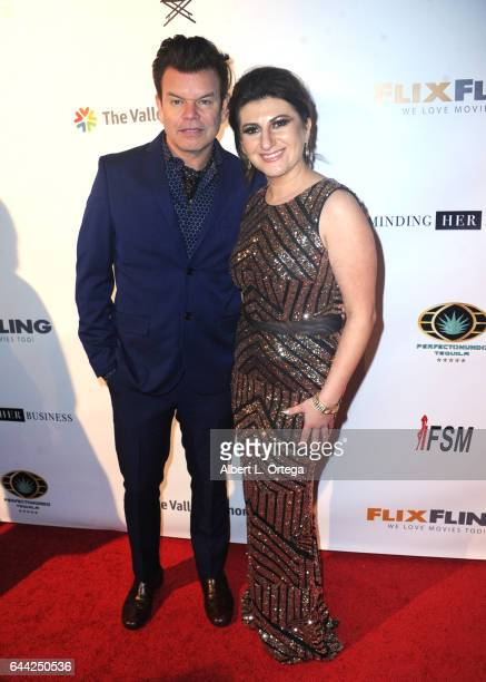Recording artist Paul Oakenfold and President/founder Lousine Karibian of The World Networks art the 2017 Entrepreneur Awards held at Allure Events...