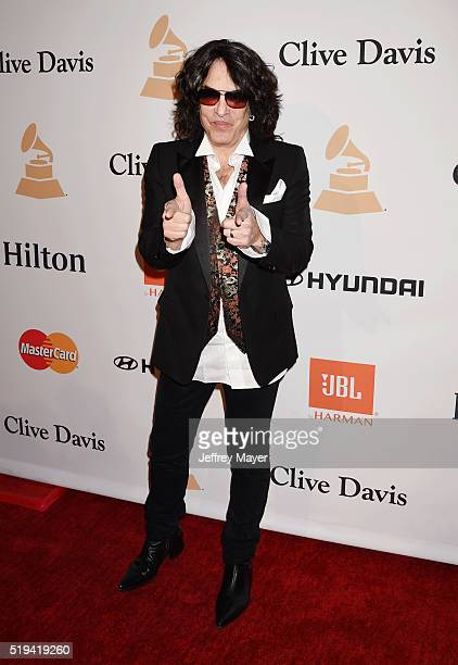 Recording artist Paul Stanley attends the 2016 PreGRAMMY Gala and Salute to Industry Icons honoring Irving Azoff at The Beverly Hilton Hotel on...