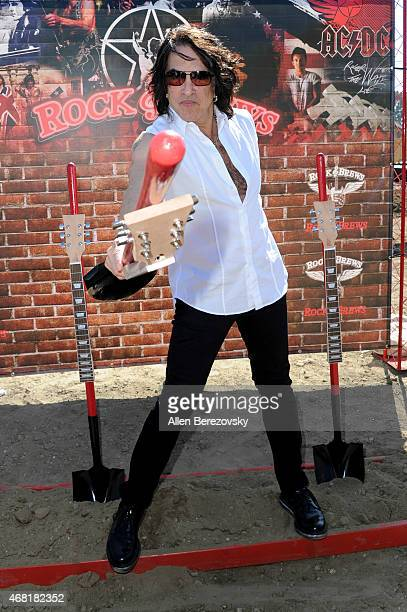 Recording artist Paul Stanley of KISS hosts Rock Brews Buena Park California Restaurant Groundbreaking on March 30 2015 in Buena Park California